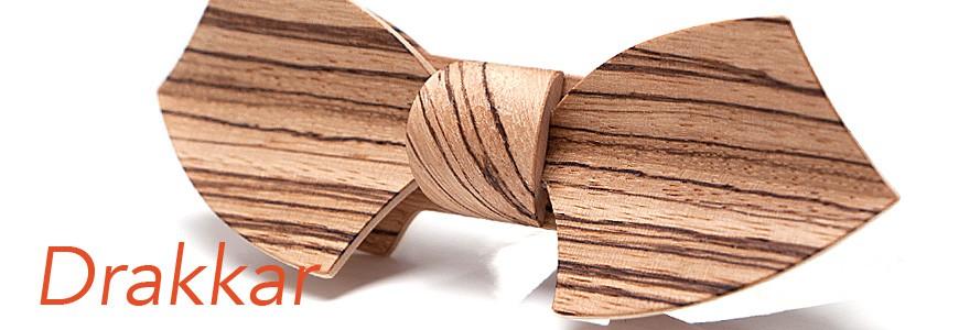 Nœuds papillon en bois - Drakkar - MELISSAMBRE®