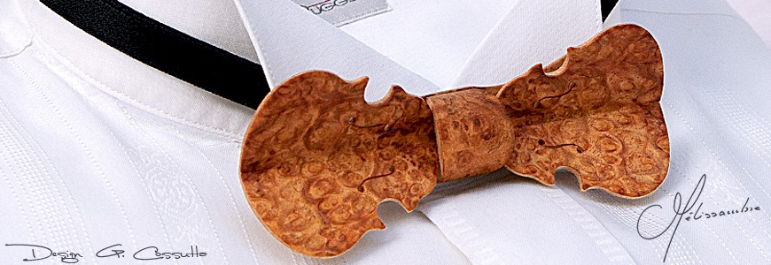 Bow Tie in Wood - The Violin - MELISSAMBRE