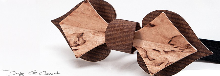 Bow Tie in Wood - The Card - MELISSAMBRE