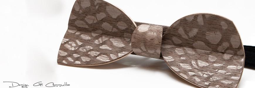 Nœud papillon en bois - Le Demi-Lune - MELISSAMBRE