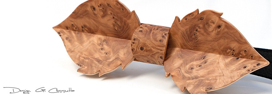 Bow Tie in Wood - The Leaf - MELISSAMBRE