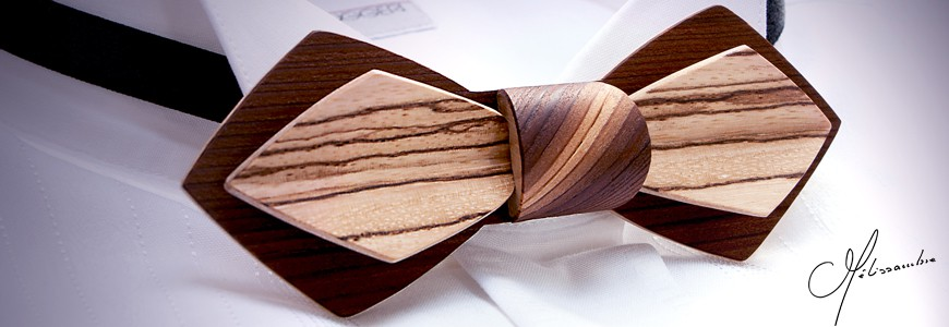 Bow ties in wood - MELISSAMBRE